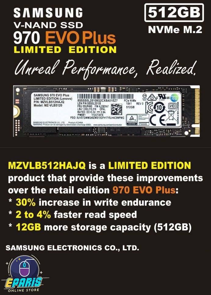 Try These Ssd Samsung Nvme Pm981 M 2 Pcie Gen3 X4 512gb Mzvlb512hajq