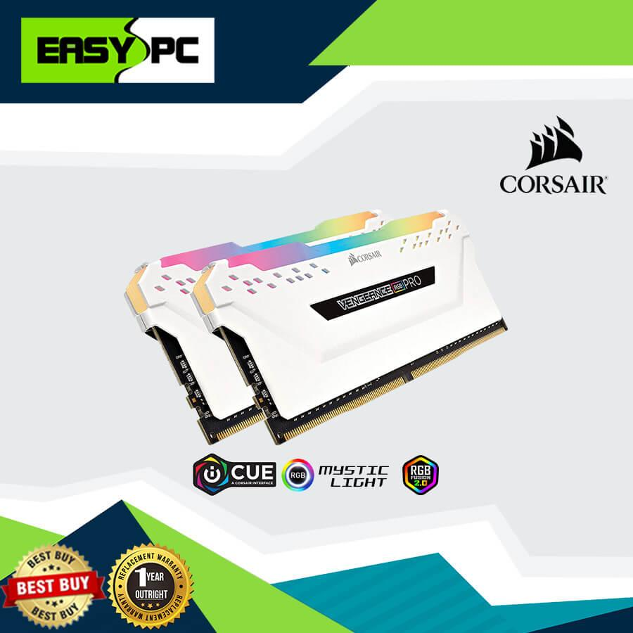 Corsair Vengeance RGB PRO 16GB (2x8GB) DDR4 3200MHz CL16 XMP 2 0 Enthusiast  RGB LED White, Corsair-Vengeance RGB Memory is for High Level Graphics and