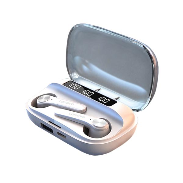 Tai nghe chơi game Lenovo QT81 BT5.0 Tai nghe âm thanh nổi không dây đích thực w / CVC8.0 Giảm tiếng ồn / Pin 1200mAh / Màn hình kỹ thuật số LED / Tai nghe thể thao chống nước có trình điều khiển 13mm với Mic Tương thích với iOS Android