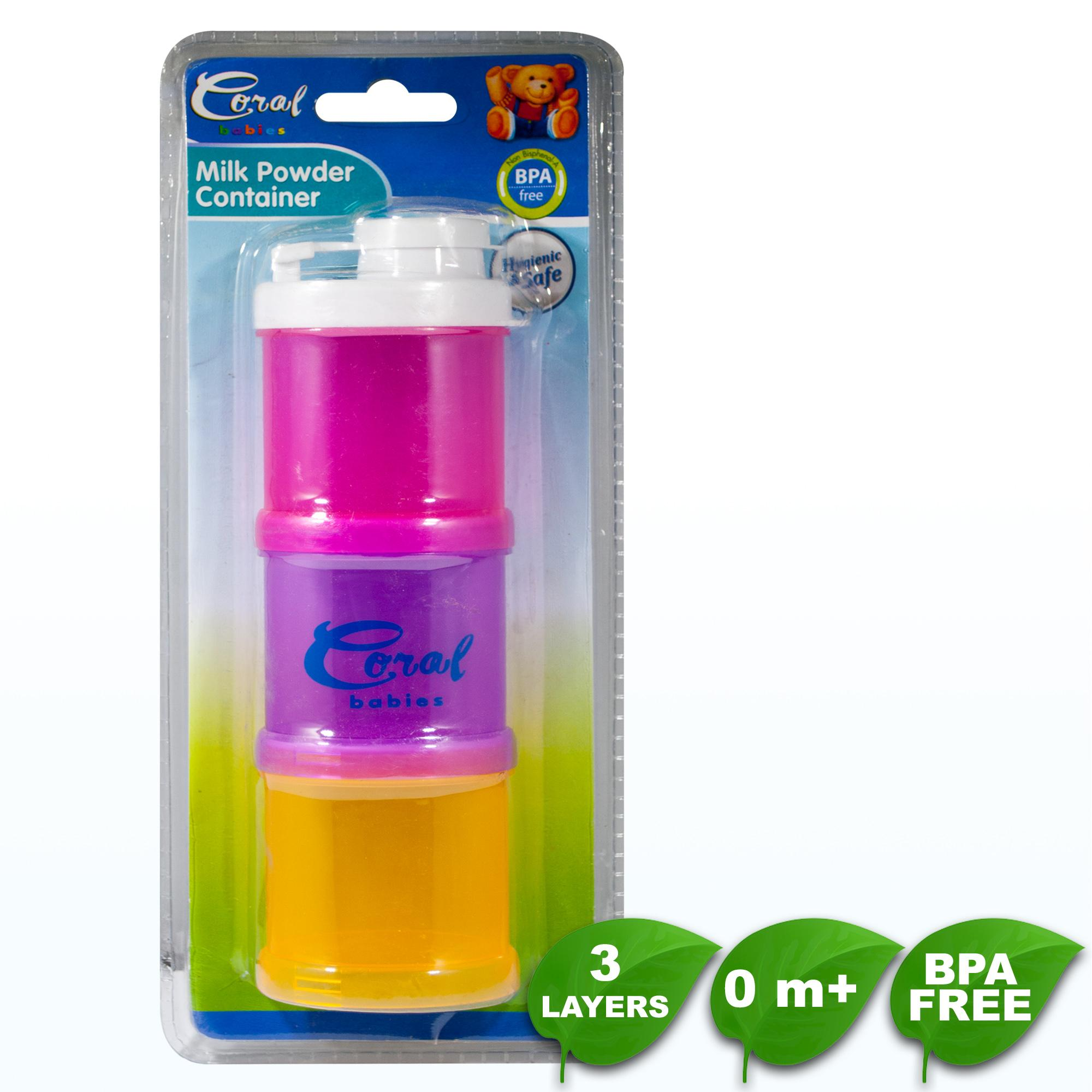 Bpa Free Coral Babies 3 Layer Milk Powder Container By Coral Babies.