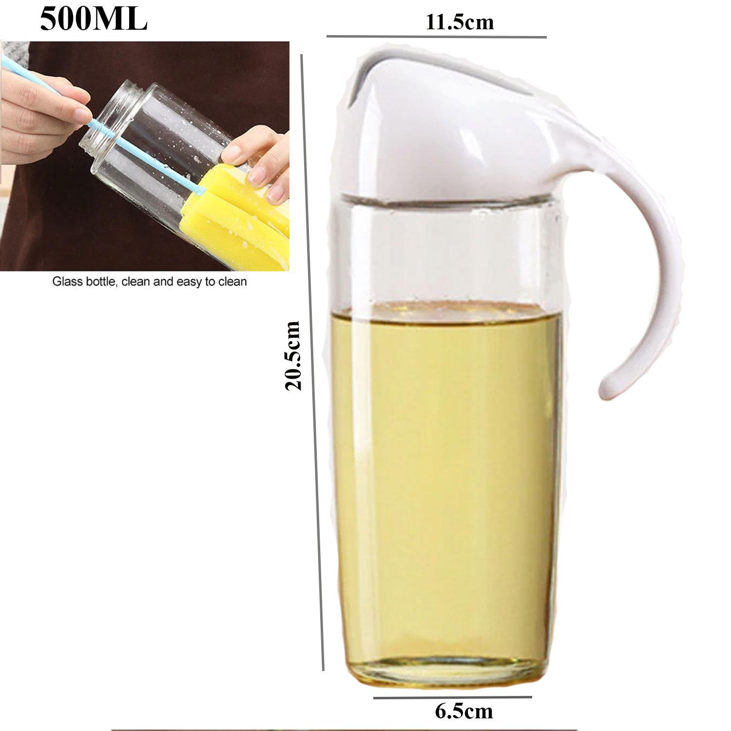 Leakproof Oil Dispenser Sauce Vinegar Bottle Gravy Boat Oil Pourer Bottle For Cooking Kitchen Tools (white) By Gonzalez General Merchandise.