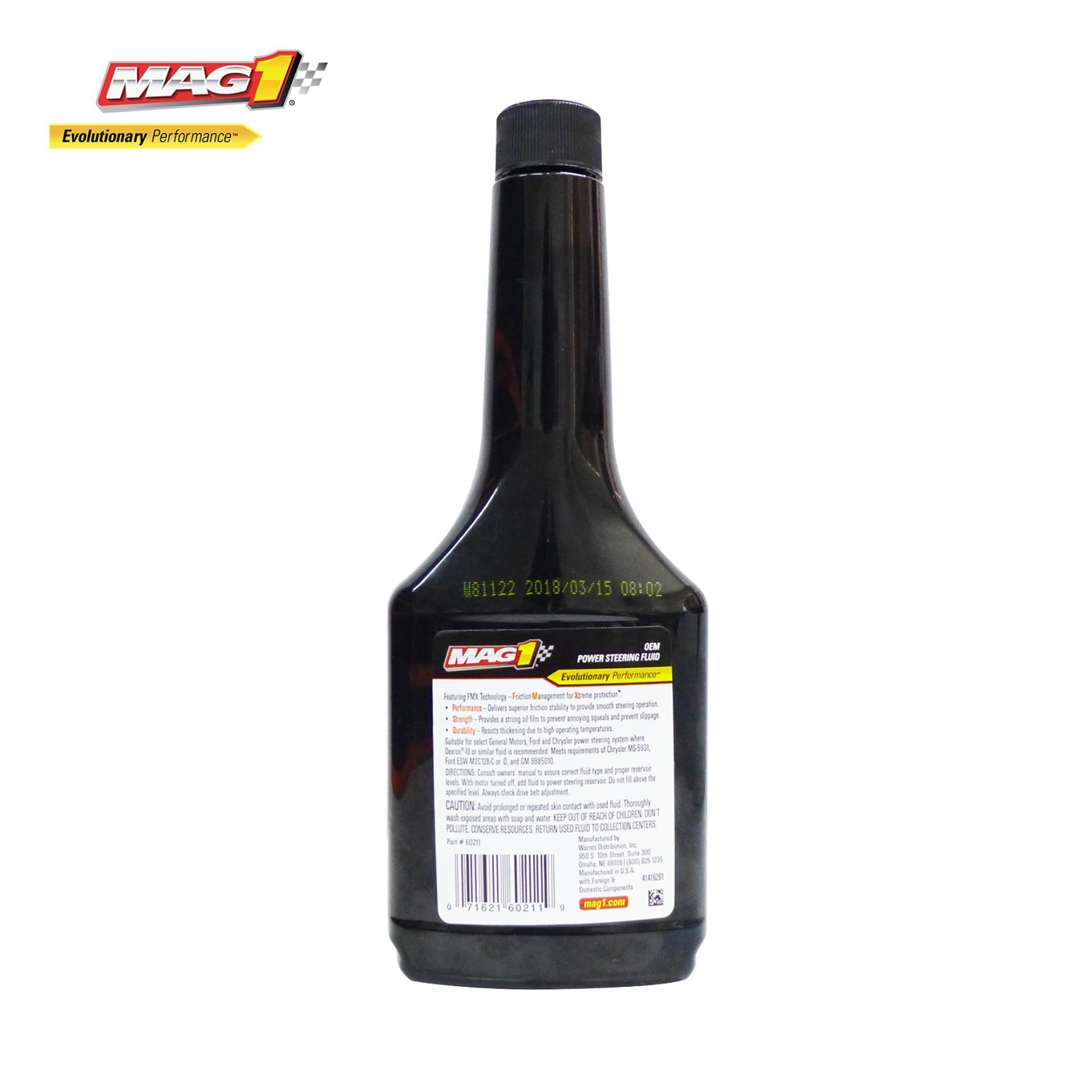 MAG 1 Premium Power Steering Fluid OEM Formula 12oz  (354ml) PN#60211