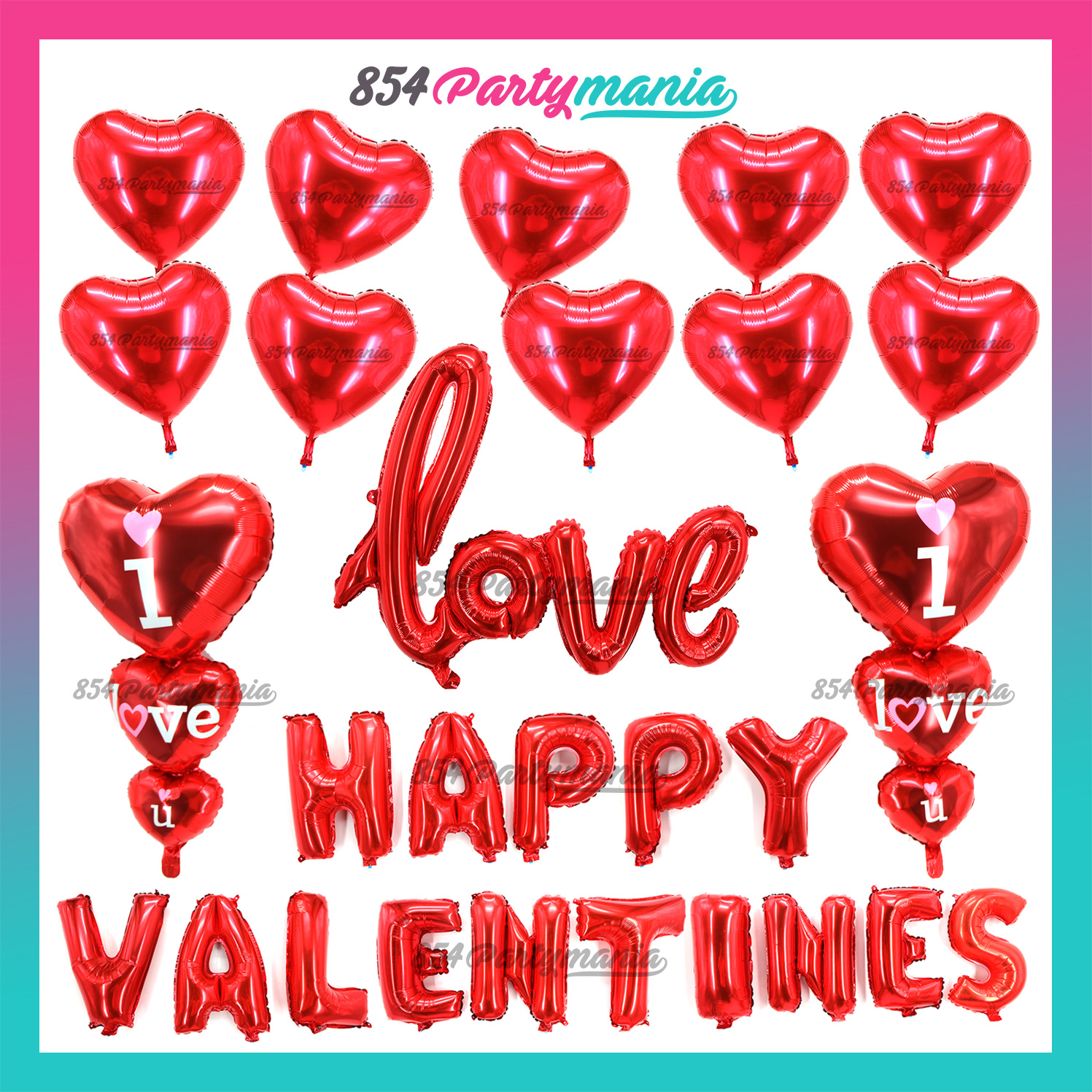 2 bag 32pcs Hanging Red Heart String Valentines Day Decorations Engagement Wedding Party