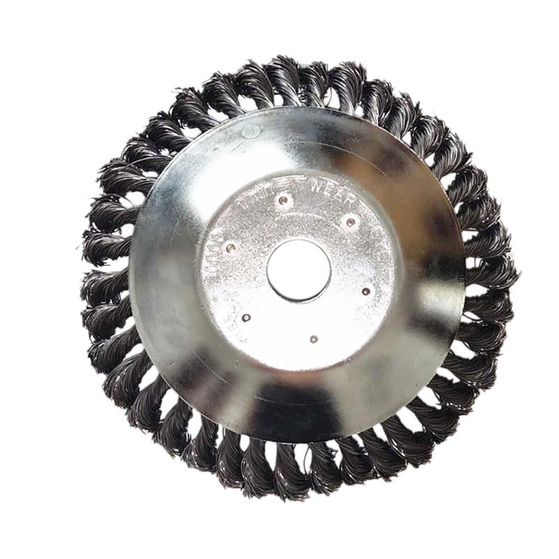 8 Inch Steel Wire Wheel Garden Weeding Brush Lawn Mower Grass Eater Trimmer Brush Cutter Tools Parts Weeding Brush