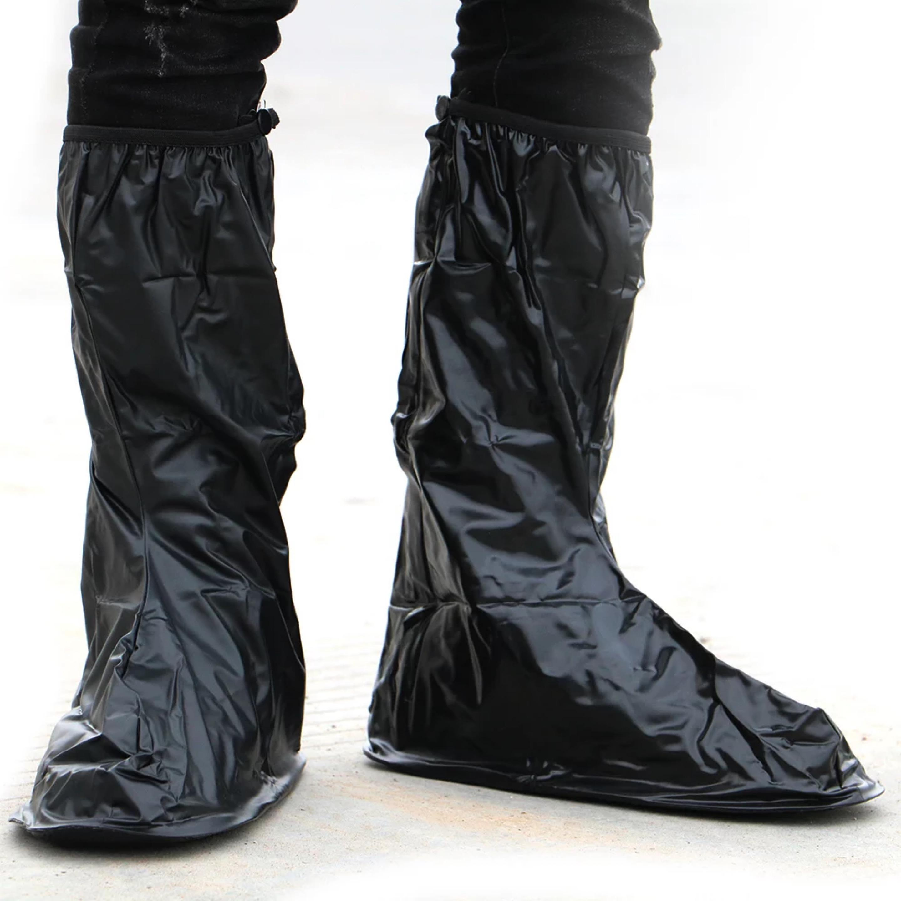 0a44db0053d High quality thick long shoe cover rainy day riding essential shoe cover