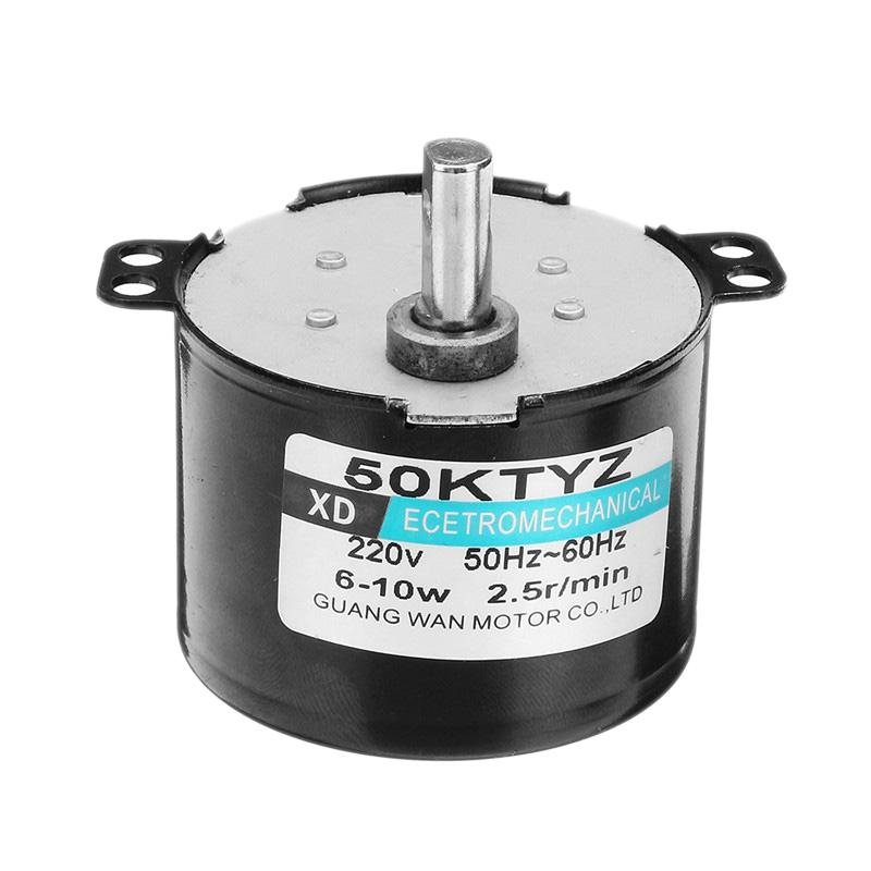 AC220V 24V 1-50rpm 10W 50KTYZ Synchronous Motor Reduction Gear AC Motor CW//CCW