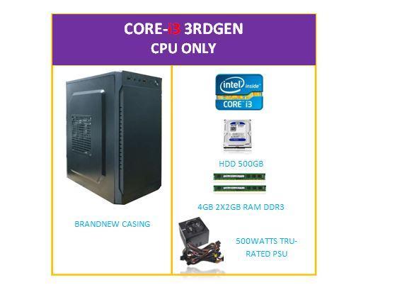 Corei3 3rd Gen CPU only
