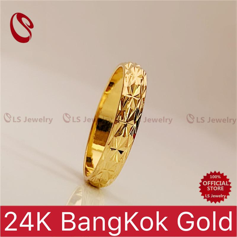 LS jewelry 24K Bangkok Gold Plated Fashion for unisex Wedding Ring R48 R47  R39 R58