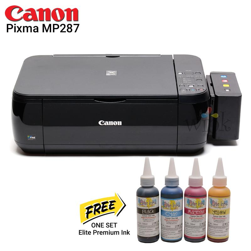 Canon MP287 All in One Printer with CISS and Elite Premium Inks PLUS  Additional One Set Elite Premium Inks