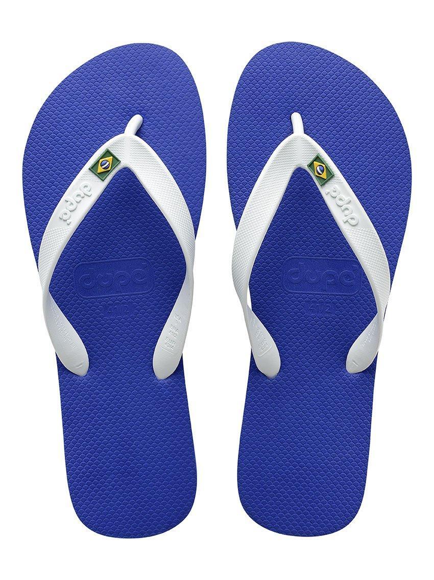 2711cdf2d Dupe Dupe Brasil Flip Flops Unisex (Marine White) - 390