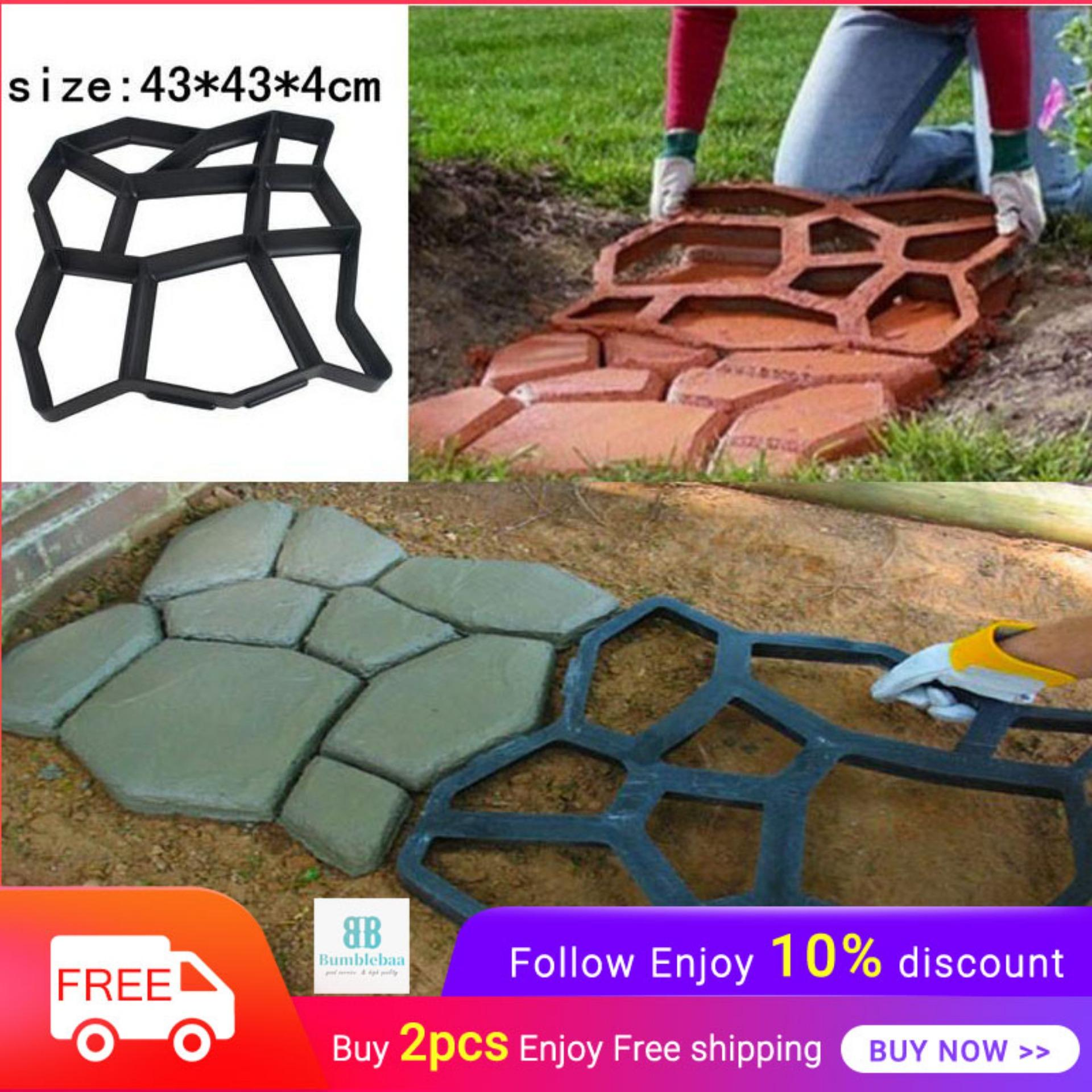 Bumblebaa Walk Maker Reusable Concrete Path Maker Molds Stepping Stone  Paver Lawn Patio Yard Garden DIY Walkway Pavement Paving Moulds (Irregular)