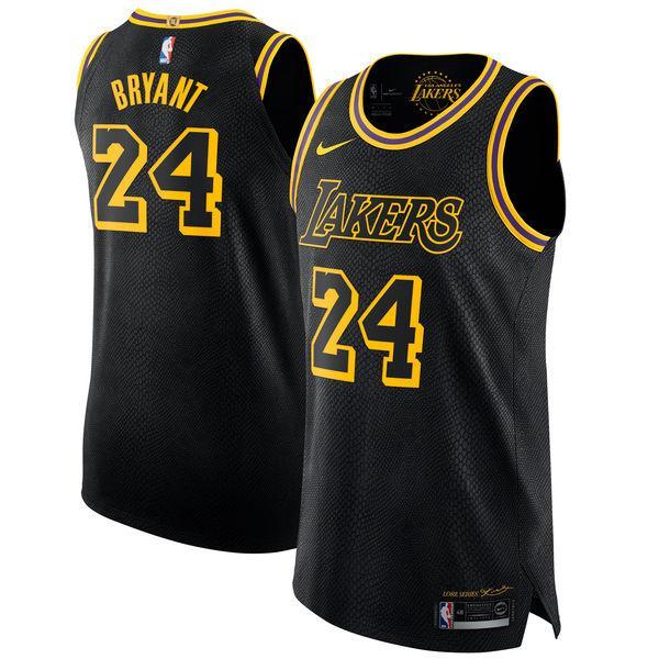 Nam _ Los_Angeles_Lakers_24 Kobe_Bryant_Black_Authentic_Jersey_City_Edition _ Có Giá Ưu Đãi