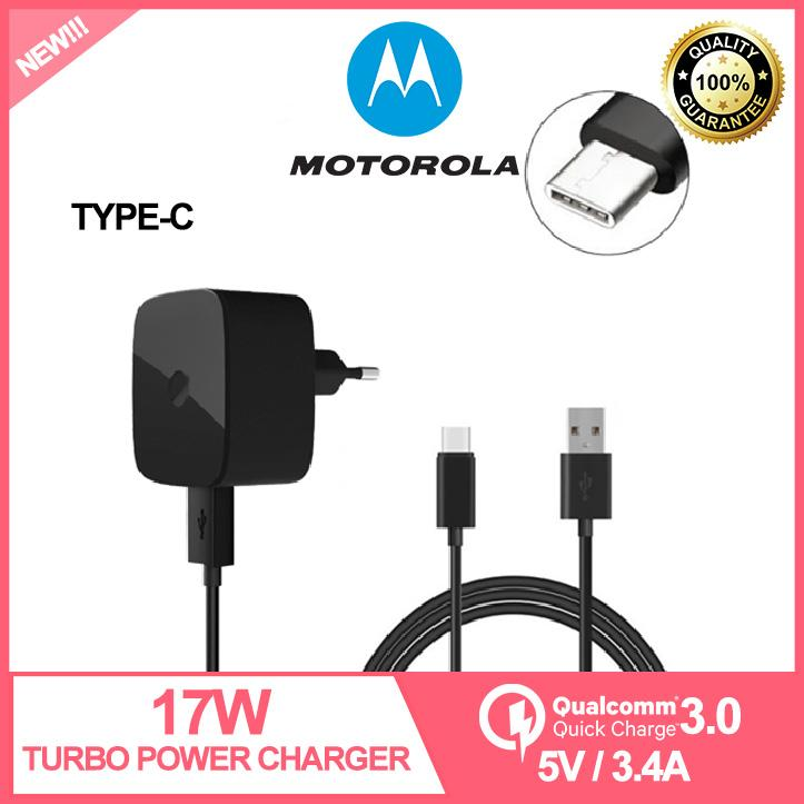 Original Motorola 25W/17W Fast Charging Charger 5V/3 4A with 3 0 USB Data  Cable Type C