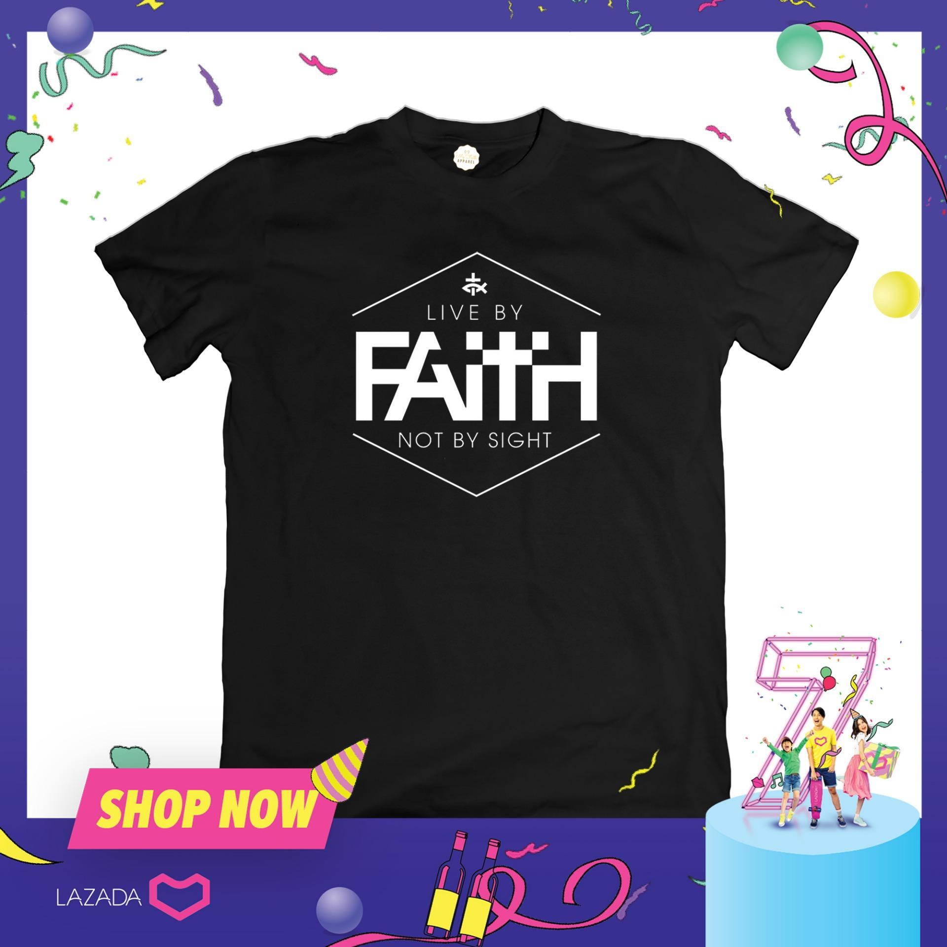 f471e9fdd65d Faith Apparel Live By Faith T-Shirt (FA1049) - tshirt printed graphic tee