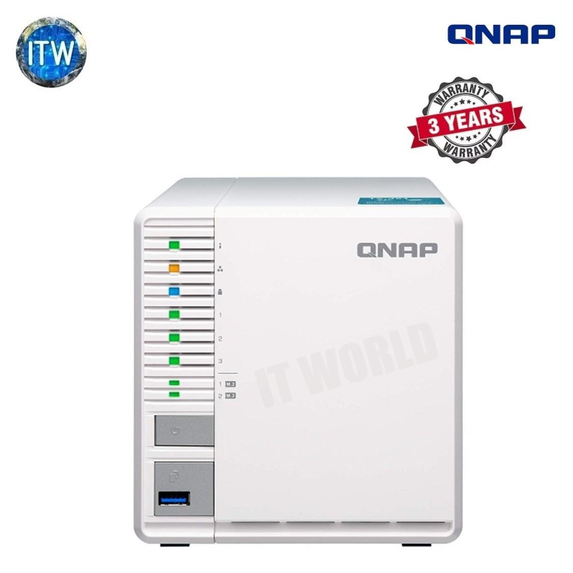 QNAP TS-351 (2GB RAM) 3-Bay Personal Cloud NAS Ideal for RAID5 Storage  Processors