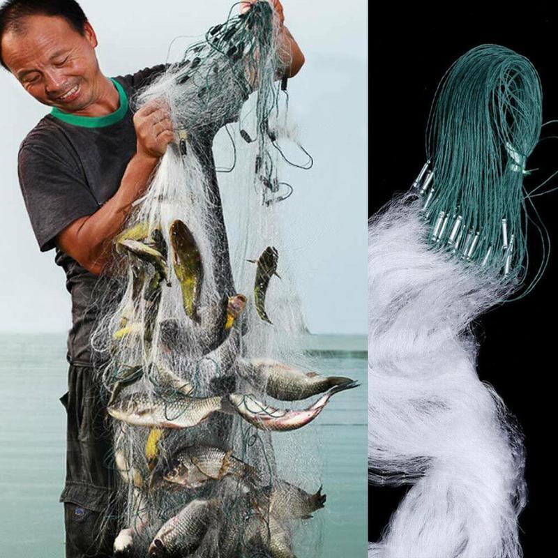 Fishing Fish Mesh Trap Nylon Fishing Gill Net Casting Net