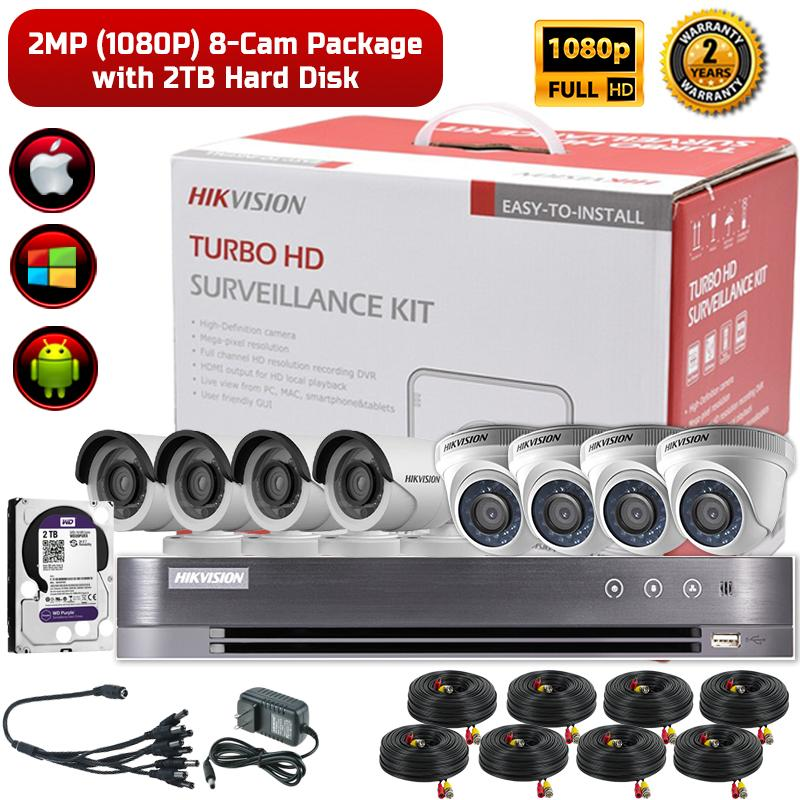 Hikvision 2MP (1080P) 8-Camera CCTV Package with 2TB Hard Disk - Asia  Electronics