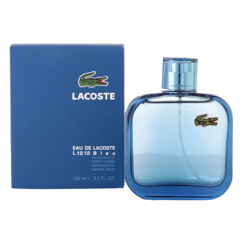 Lacoste Eau de Lacoste L.12.12 Bleu  Eau de Toilette For Men 100ml (Blue)