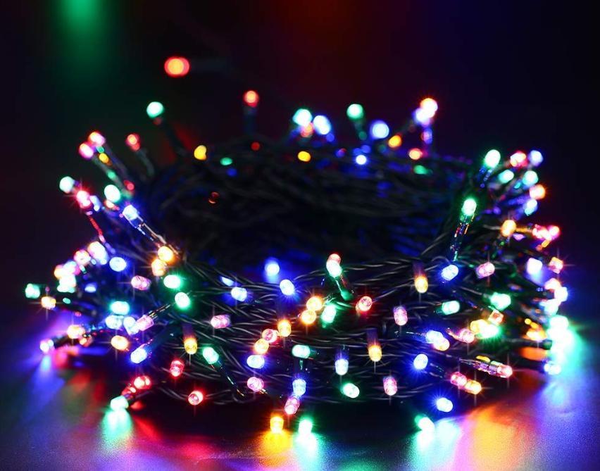 Colorful Christmas Lights Aesthetic.100 Led String Lights Solar Christmas Lights 8 Modes Ambiance Lighting For Outdoor Patio Lawn Landscape Fairy Garden Home Wedding Holiday Waterproof