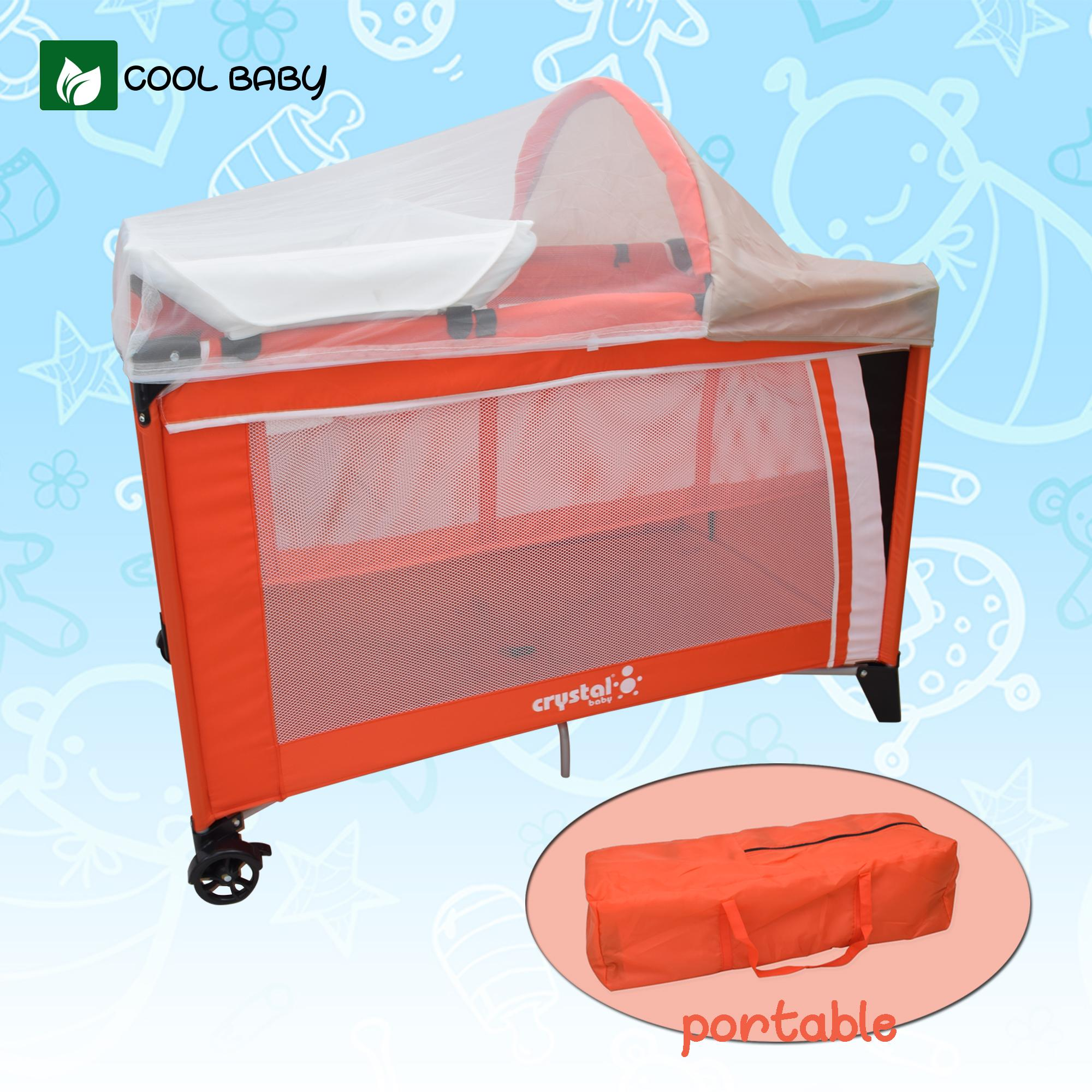 Cool Baby 102 Baby Crib Nursery Playpen With Mosquito Net By Cool Baby.