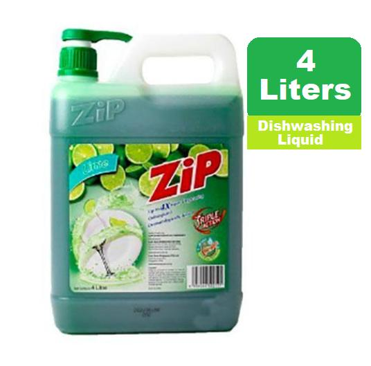 Zip Lime Dishwashing Liquid 4liters- Imported From Singapore By Avahfrancia.