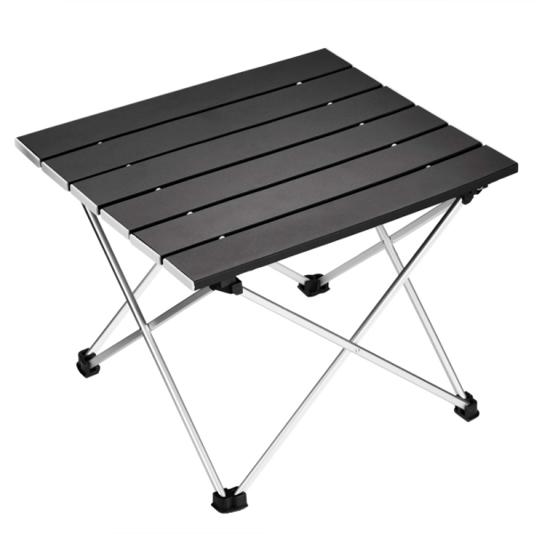 Portable Folding Camping Table Aluminum Desk Table Top Suitable for Outdoor Picnic Barbecue Cooking Holiday Beach Hiking Traveling