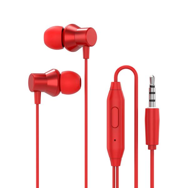 Tai nghe in-ear Lenovo HF130 Tai nghe có dây 1,2m với phích cắm Mic 3,5mm / Giảm tiếng ồn / Âm thanh nổi HiFi / Giọng nói HD / Âm trầm sâu / Tai nghe thiết kế một nút Tương thích với điện thoại