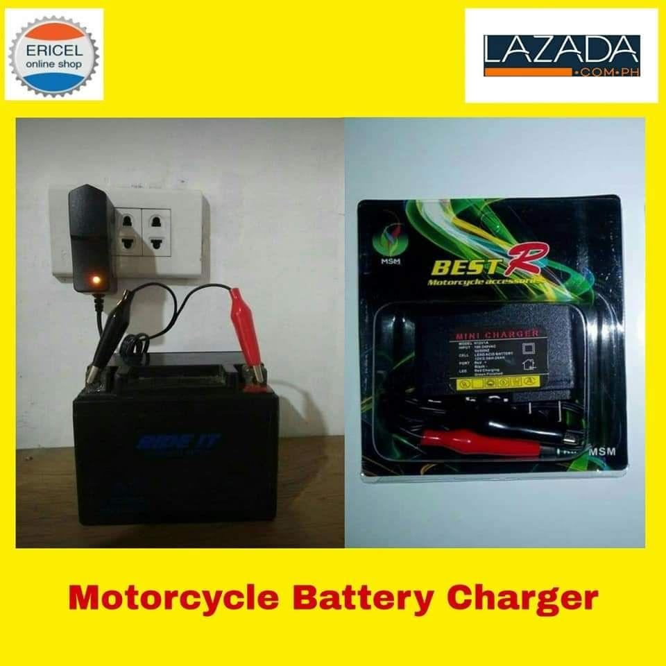 Motorcycle Battery Charger By Ericel Online Shop.