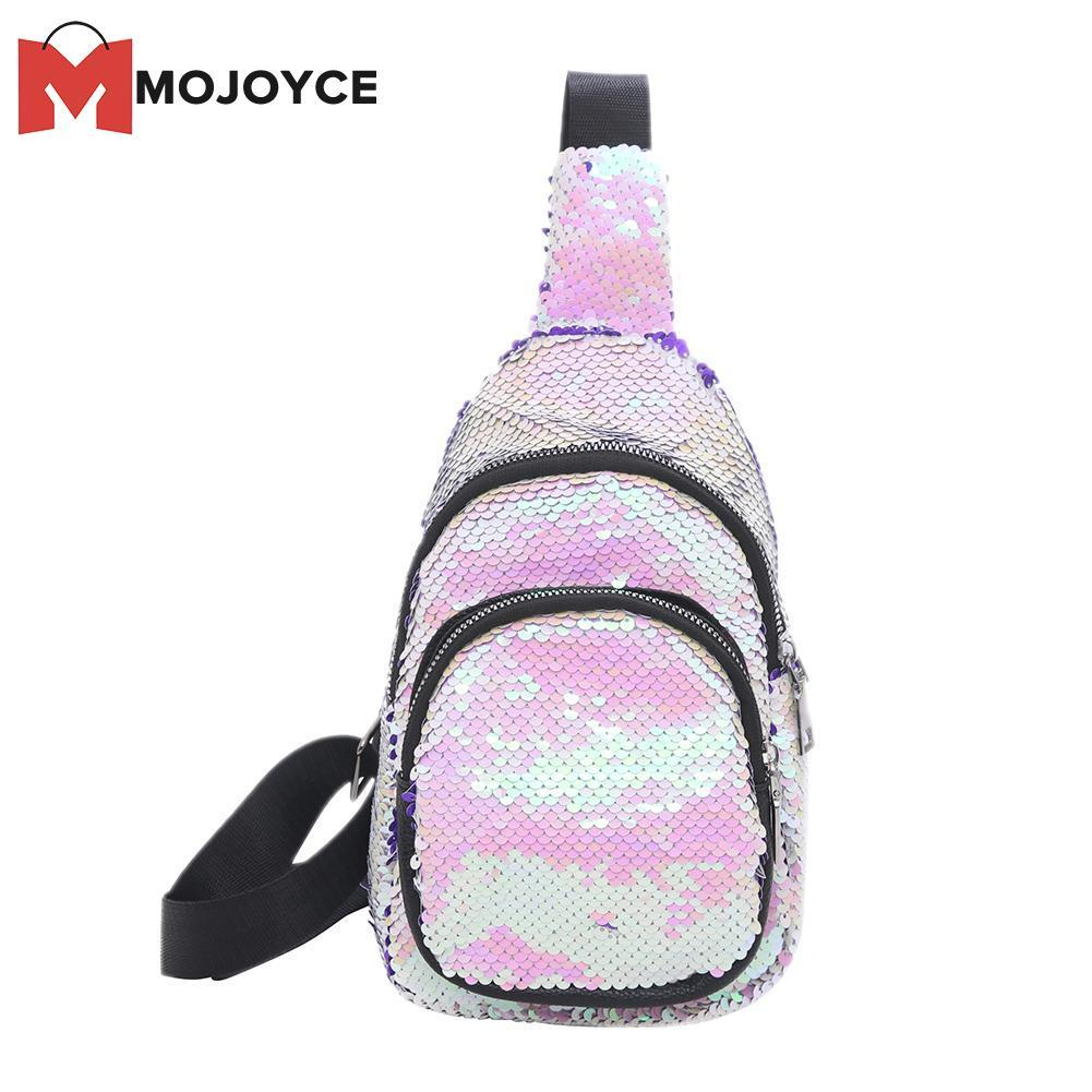 f9a381561f MOJOYCE Women Bling Sequins Crossbody sling Bag s Shoulder Messenger Shiny  Chest Handbags