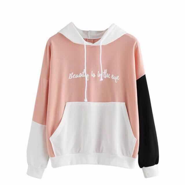 58329f2715fb Beautyshop1 women letters longsleeve hoodie sweatshirt pullover blouse