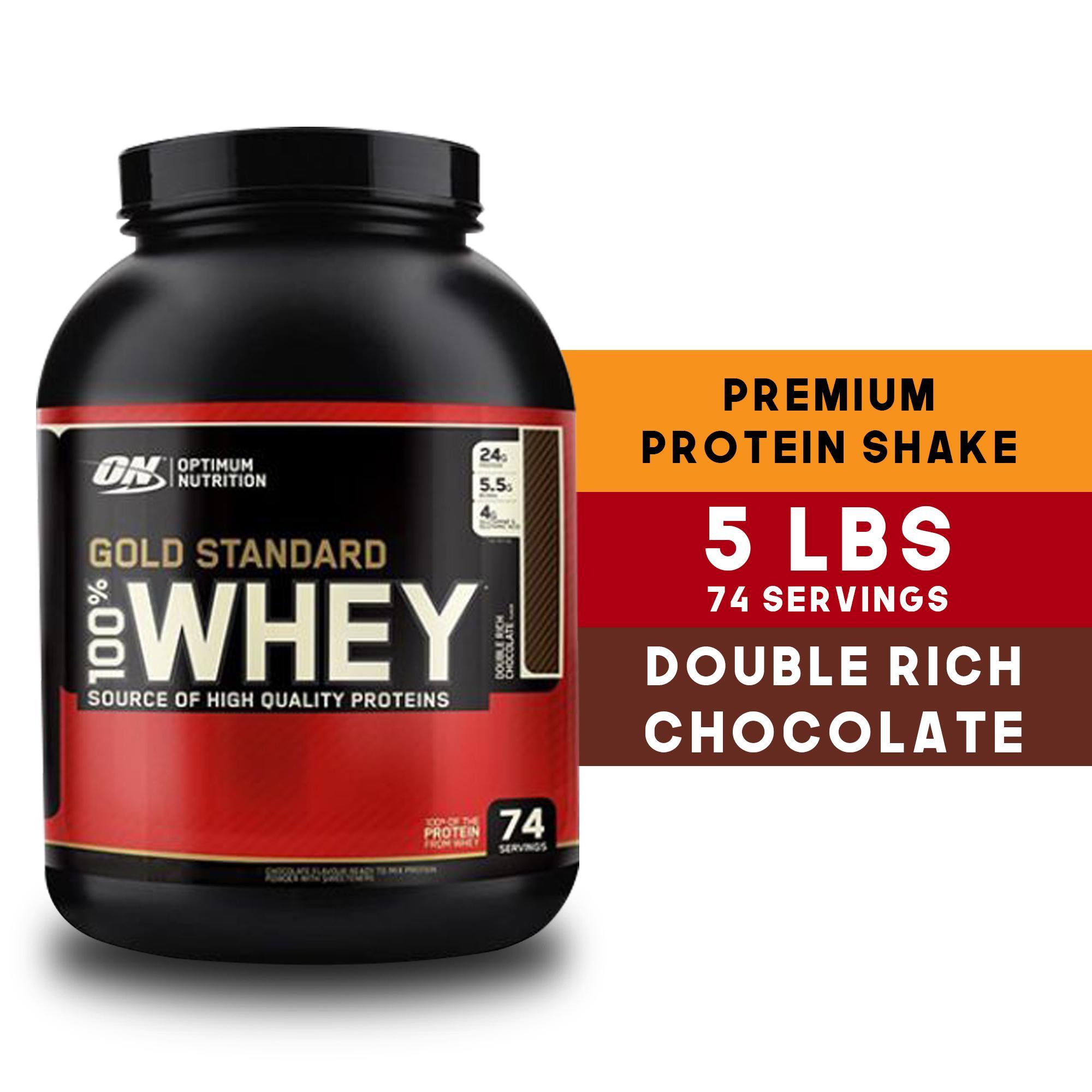 ba0643e33 Optimum Nutrition Gold Standard 100% Whey - 5lbs - Double Rich Chocolate