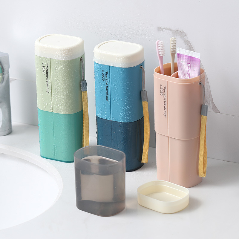 Portable Toothbrush Toothpaste Storage Box Travel Holder Organizer Wash Cup