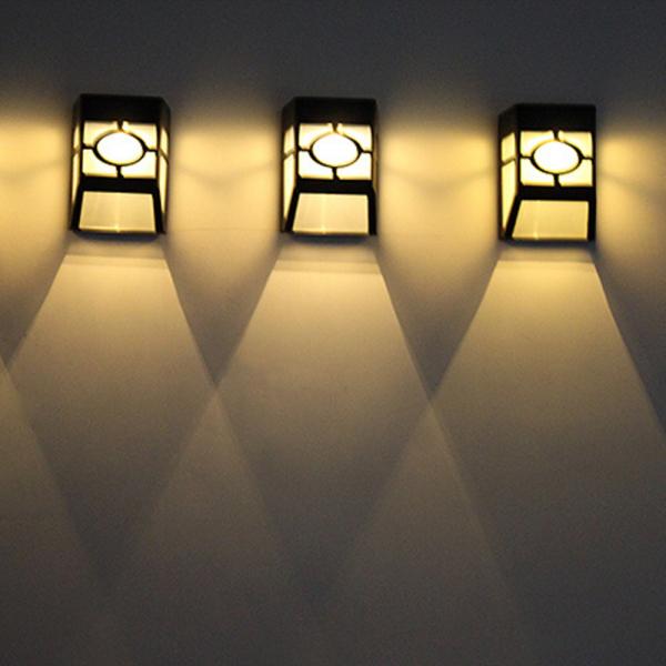 [Đồ Tắm] 1 Chiếc Đèn LED Treo Tường Năng Lượng Mặt Trời Hoài Cổ, LED Ánh Sáng Cửa Sổ Đèn Sân Vườn Hàng Rào Cảnh Quan Lối Đi Ngoài Trời Không Thấm Nước, Tiết Kiệm Năng Lượng