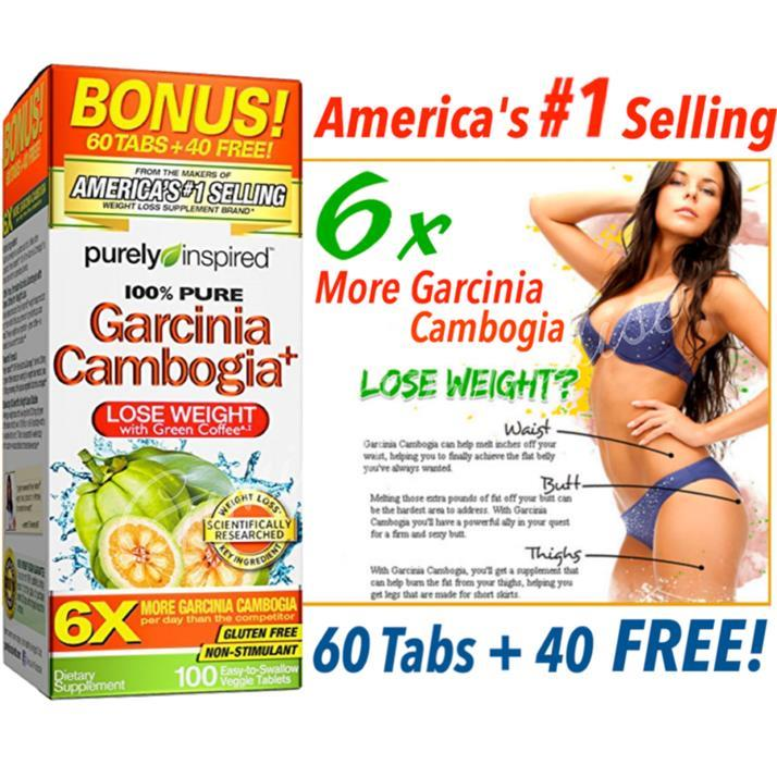 Purely Inspired Garcinia Cambogia 6x Loose Weight 100 S Tablets