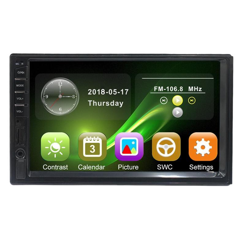 2 Din Car Multimedia Player Car Radio Bluetooth Mirrorlink HD Press Radio Mp5 Player Usb AUX Audio Stereo 7082
