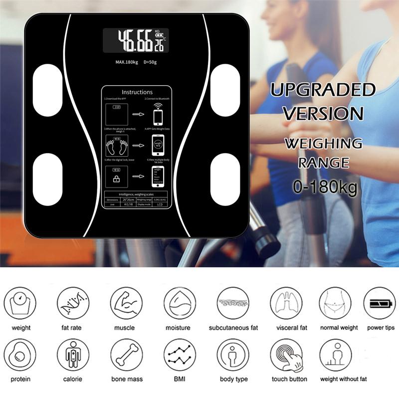 Cân Điện Tử Cân Sức Khỏe điện Tử Thông Minh Body Composition Scale Gen Cân Bluetooth | Cân Phân Tích Chỉ Số Cơ Thể, Cân đo độ Béo, Mỡ, Lượng Nước, Cơ Bắp