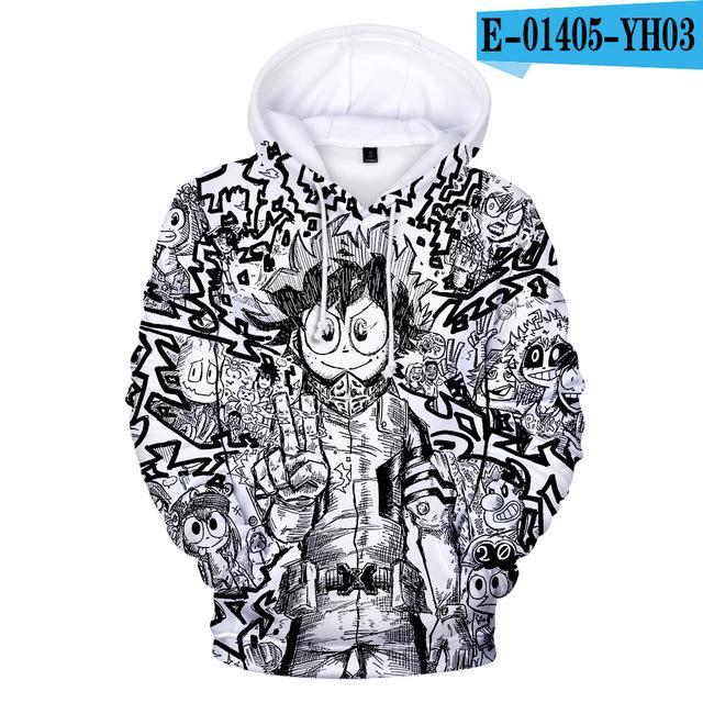 Boku no My Hero Academia Katsuki Bakugo Cosplay Jacket Hip-hop Coat Hoodie Gift