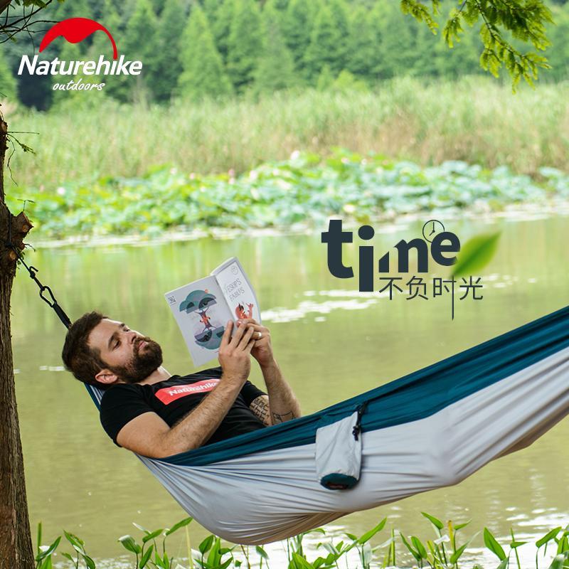 New Single People Fabric Hammock Outdoor Leisure Parachute Hammock Camping TAO