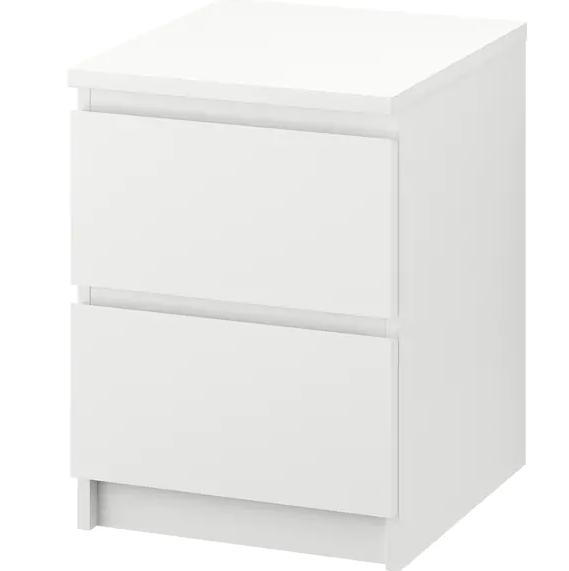 Malm Chest of 2 Drawers (White)
