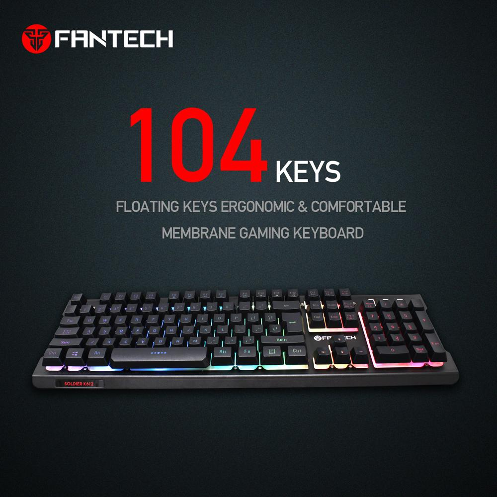 4bd0e474c3a Product details of Fantech K612 Soldier RGB Pro Gaming Keyboard (Black)
