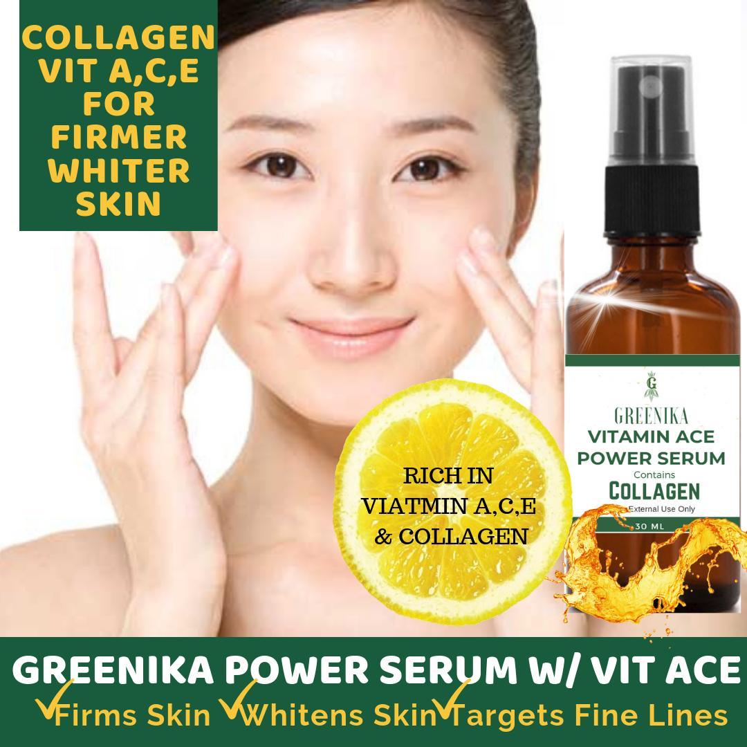 30ml Greenika Collagen Face Serum Facial Moisturizer Anti-Acne Treatment,  Shrinks Pores, Moisturizer Quick Absorbing Non-Sticky Scar Remover Anti  Acne