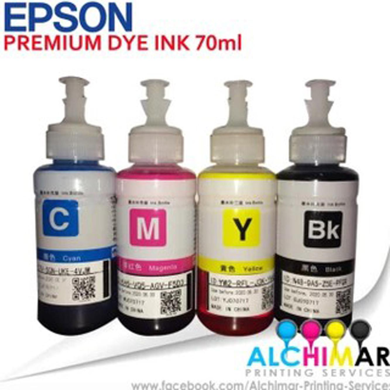 Epson Premium Dye Ink 70ml 4pcs Already By Alchimar Printing Services.