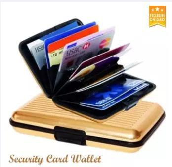 f33cb21473e806 Oneline 6 card slots Aluminium Hard Case Security Wallet Bank Credit Card  Holder