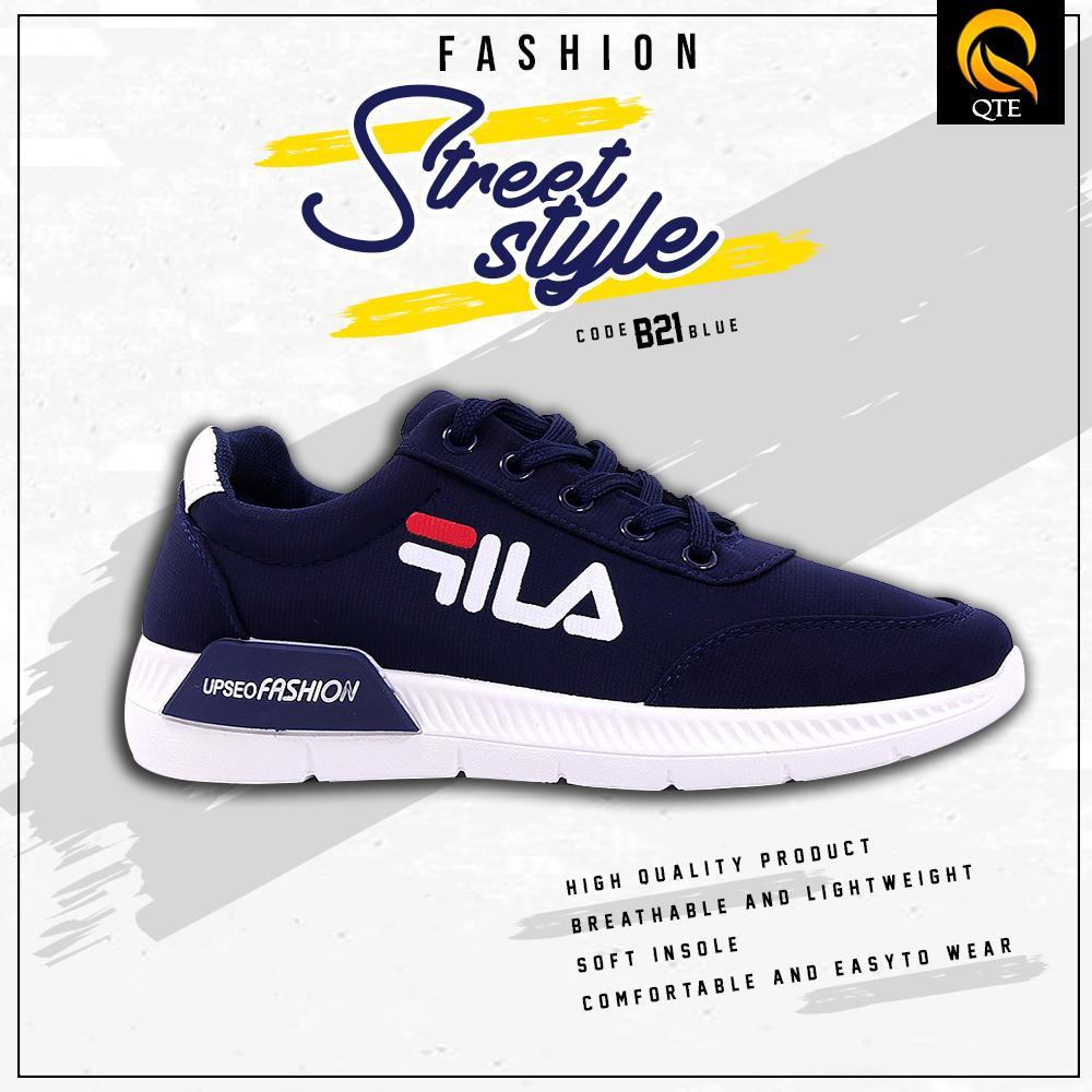 brand new 166e8 d4429 B21 Fila Inspired Fashionable Rubber Shoes for Men
