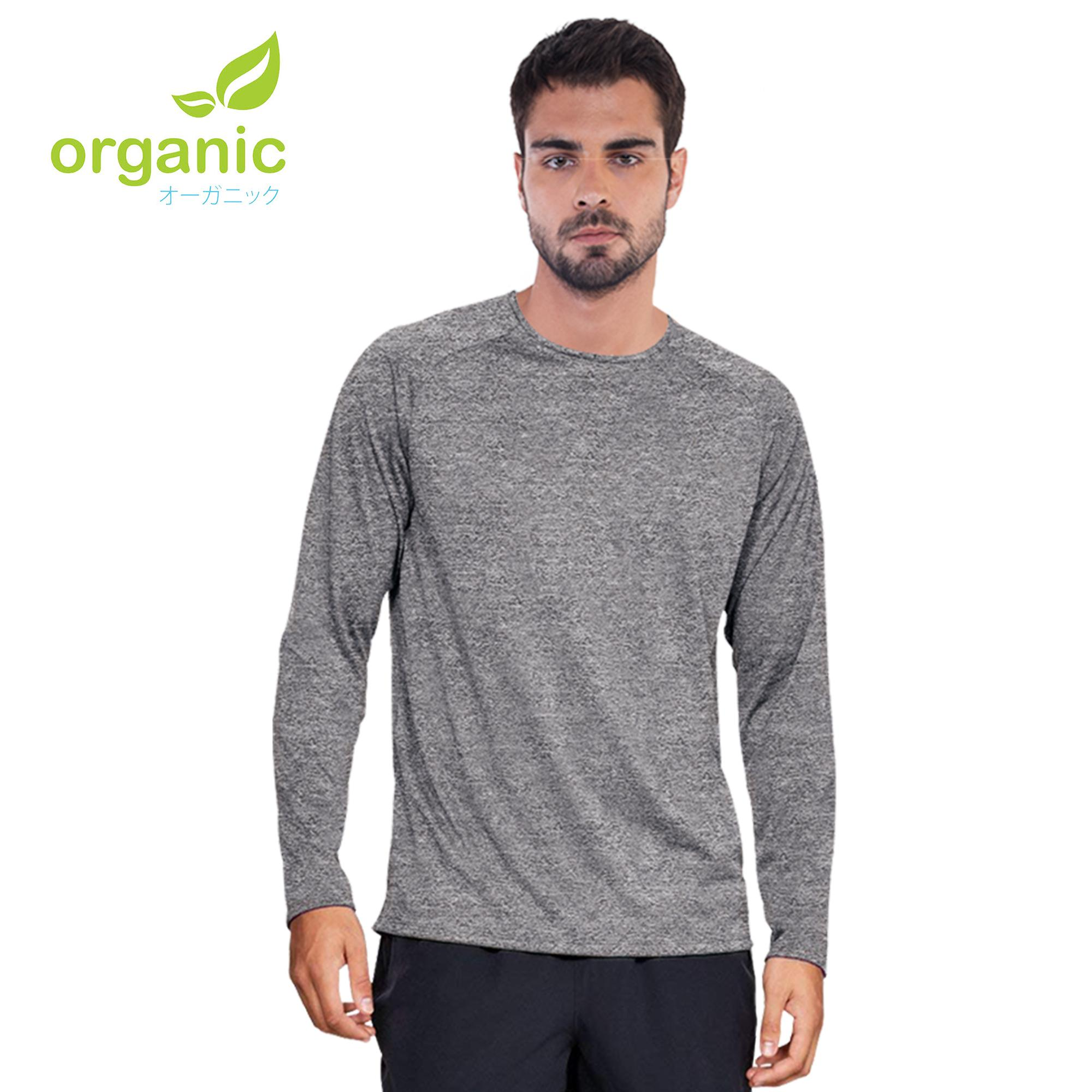 4aba411cfa919 Organic Men Sports Active Long Sleeve Shirt Quick Dry Compression Shirt For  Running Jogging Workout Sports