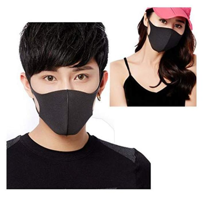 Ella Fashion Washable Anti Dust Mask Anti-fog Mask Reusable Antibacterial  Activated Carbon Ear loop Mouth Mask Face Masks for Men Women