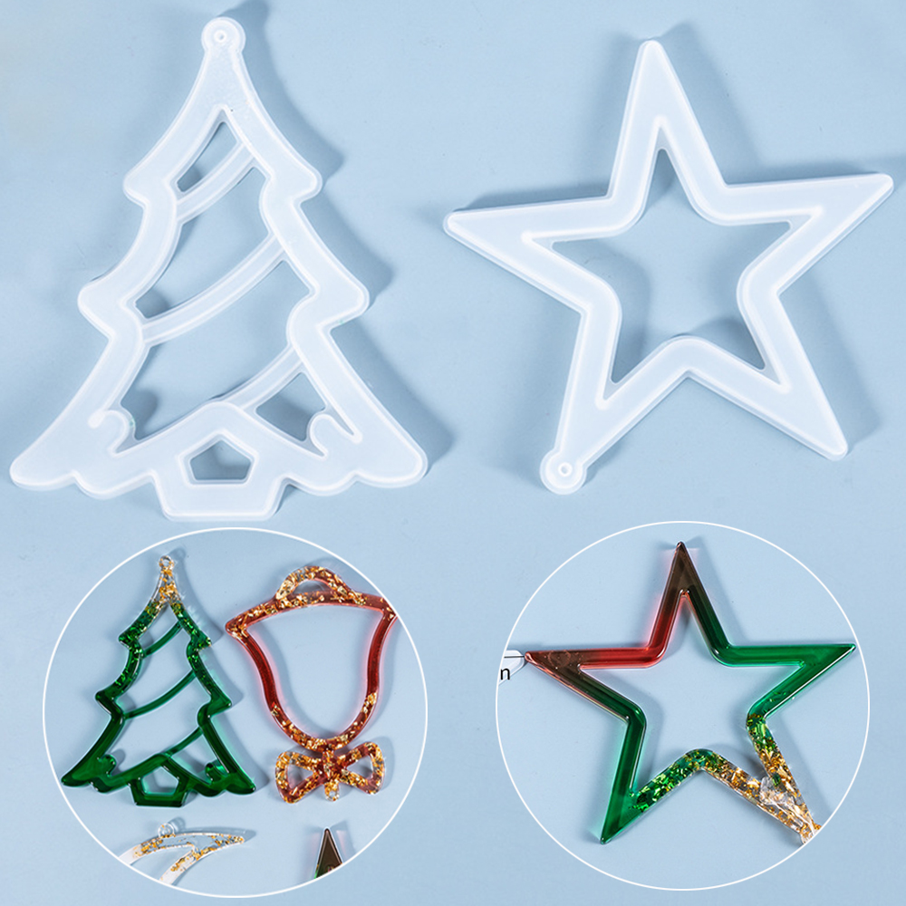 Making Tools Christmas Resin Mold Silicone Mould Xmas Molds Hanging Tags
