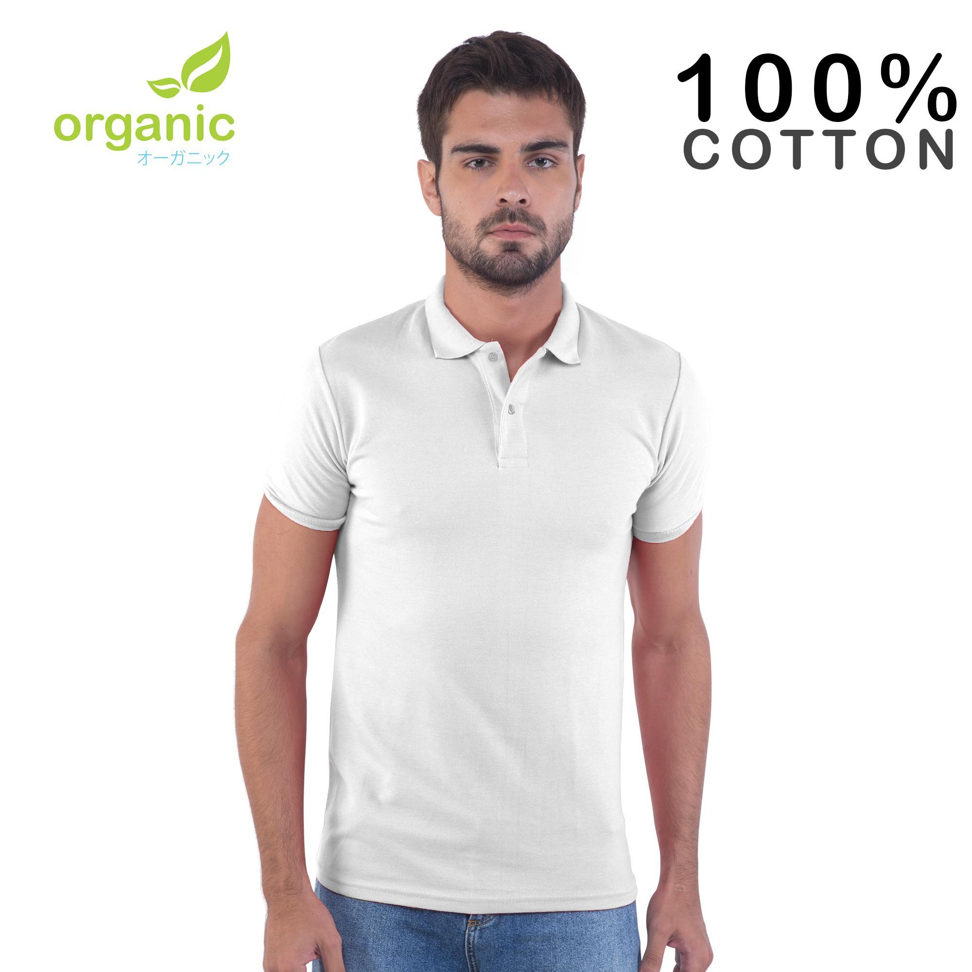 95da6a9cd5f Organic Mens Pique Polo Shirt (White) Tees t shirt tshirt shirts tshirts  tee tops
