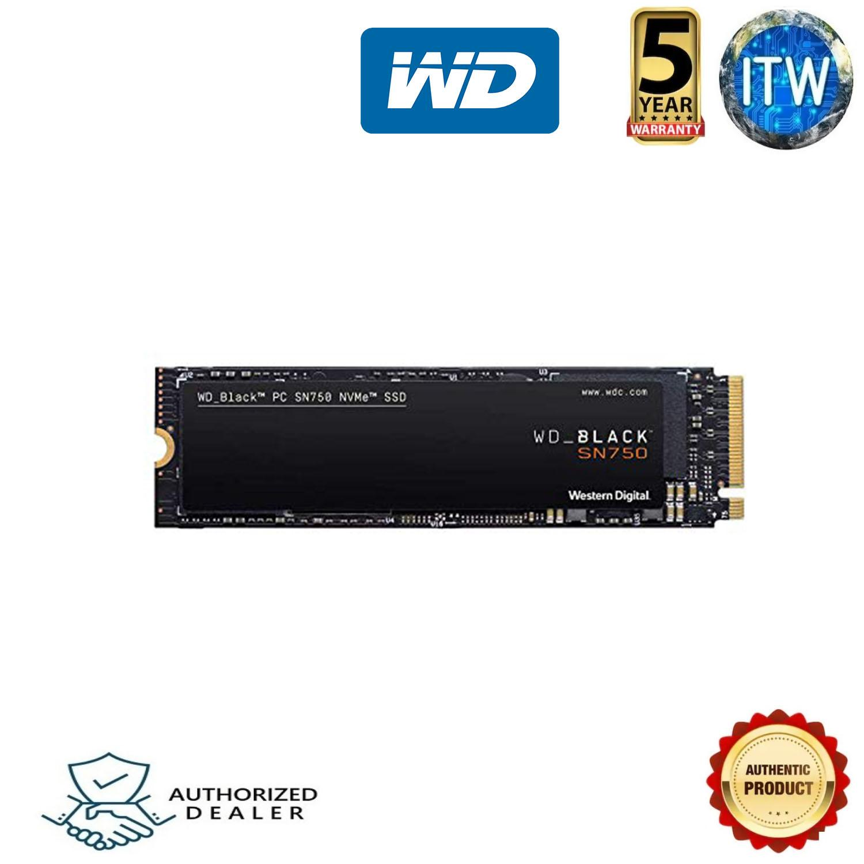 Western Digital WD Black SN750 500GB High-Performance NVMe PCIe Gen3 8 Gb/s  M 2 2280 SSD - WDS500G3X0C
