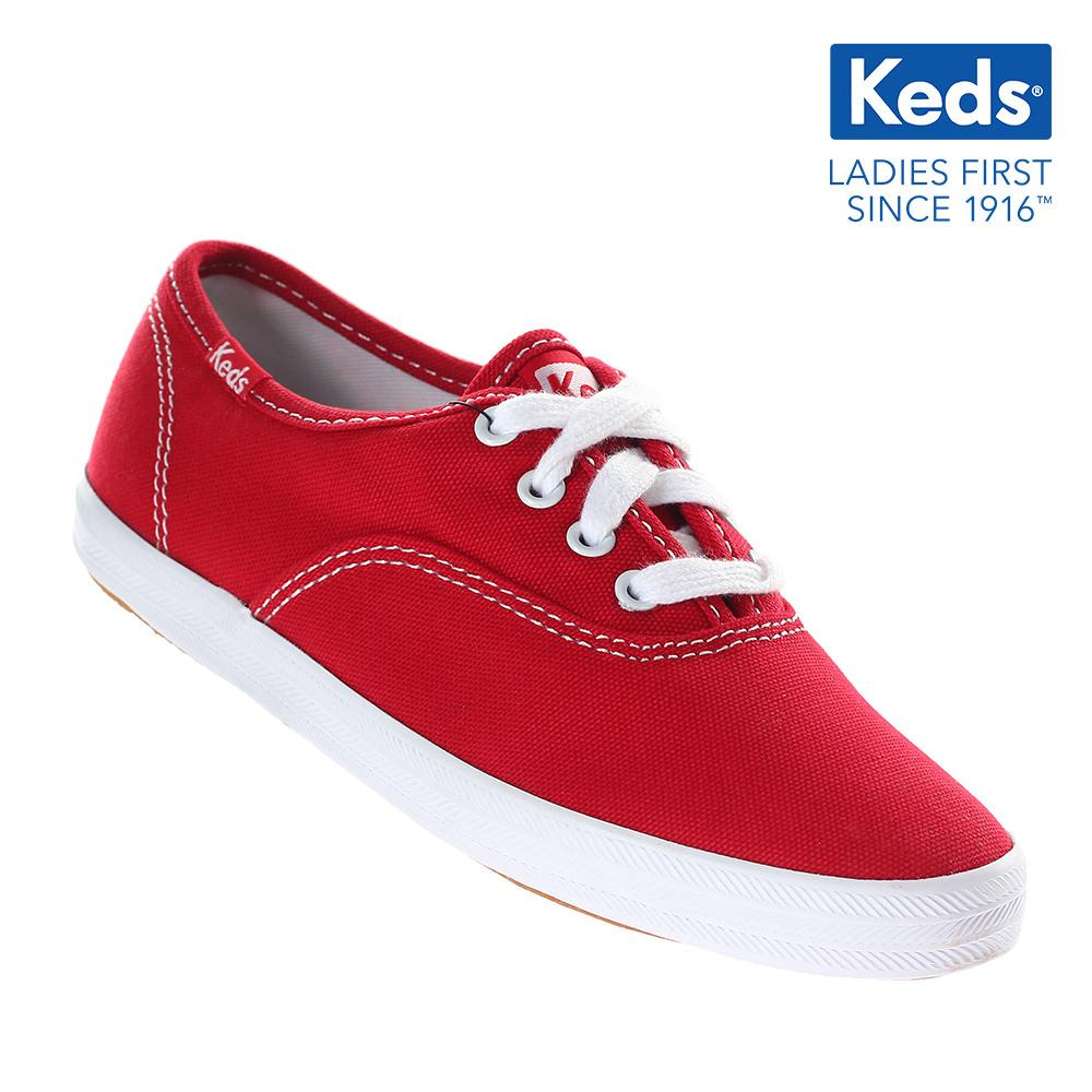 1882da8e32609 Keds Champion CVO Canvas Lace-up Girls  Sneakers (Red) KY41605A